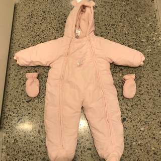 Baby pink toddler snow suit size 1