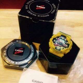 Authentic Gshock Yellow Green