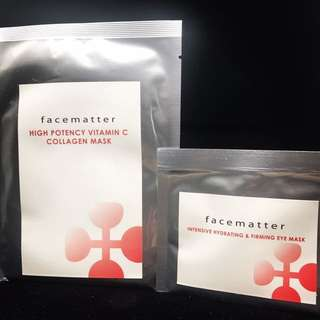 FACEMATTER- High Potency Vitamin C Collagen Mask & Intensive Hydrating & Firming Eye Mask