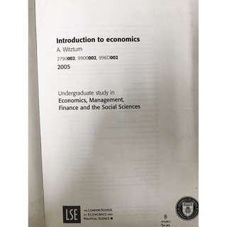 Introduction to Economics Text / Textbook  / UOL Study Guide 2005 . A. Witztum 2790002, 9900002, 996D002