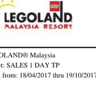 Legoland ticket 1 x adult ticket theme park only