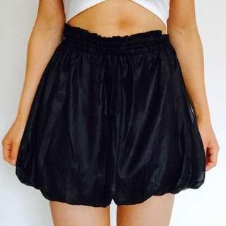 Black grunge bubble skirt