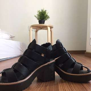 Black Zara Block Heel