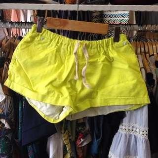 螢光黃短褲