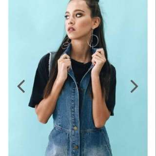 Verge girl denim playsuit