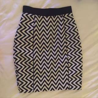 H&M Chevron Skirt