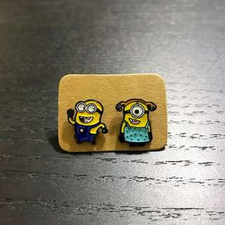 Assorted Funny Minion Metal Ear Stud