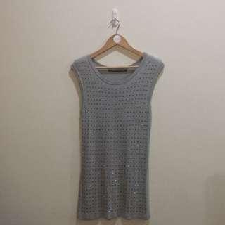ZARA BASIC Evening Collection Bling Diamond Shirt Dress