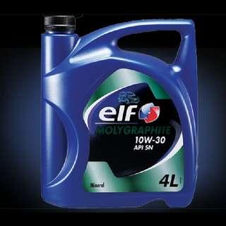 Elf Minyak Enjin Molygraphite 10W30 (4L) mineral Oil Engine