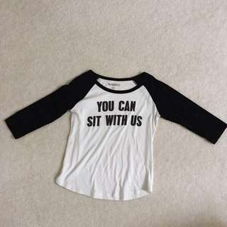 Black & White Top With Text
