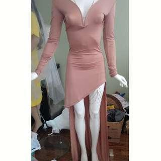 V Neck Dress pink