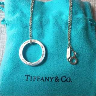 AUTHENTIC TIFFANY & CO Circle Pendant / Necklace