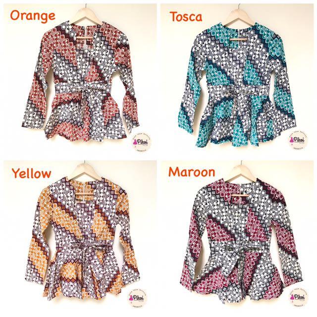 Baju Batik Lengan Panjang Vector: 840 Baju Batik Lengan Panjang / Atasan Batik Modern