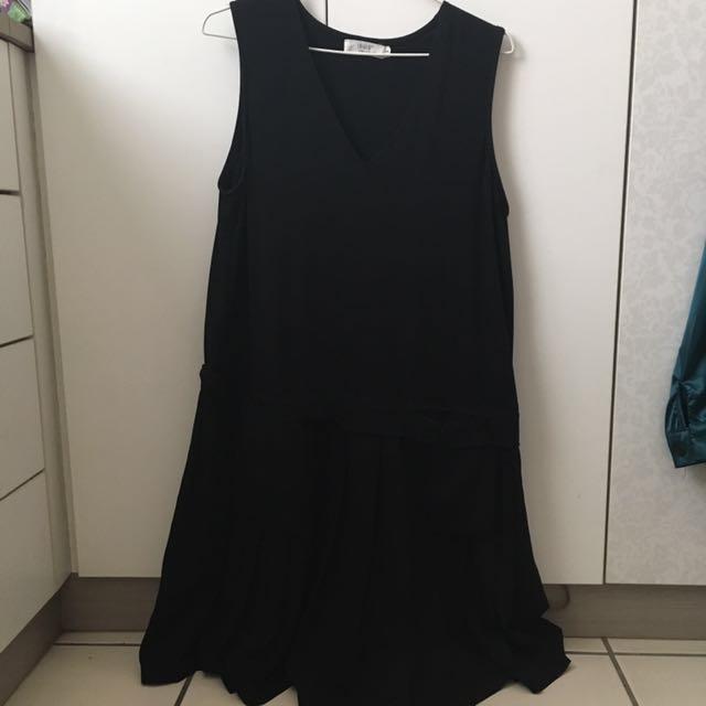 百折雙口袋裙