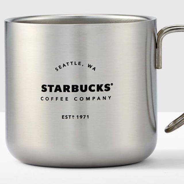 星巴克不鏽鋼把手杯