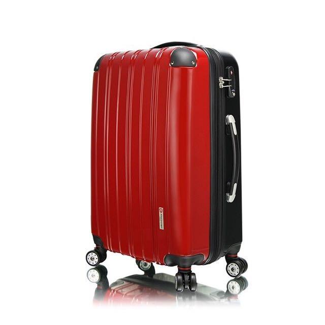 【出清】時尚撞色  20吋進口PC材質硬殼行李箱 靜音飛機輪旅行箱 海關密碼鎖拉桿箱  箱對論系列