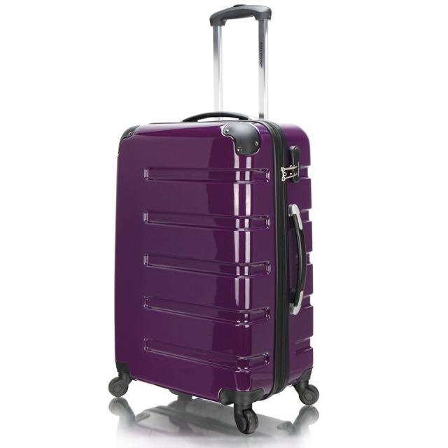 出國必備 20吋進口PC材質硬殼行李箱 密碼鎖旅行箱 靜音萬向輪拉桿箱 風華系列
