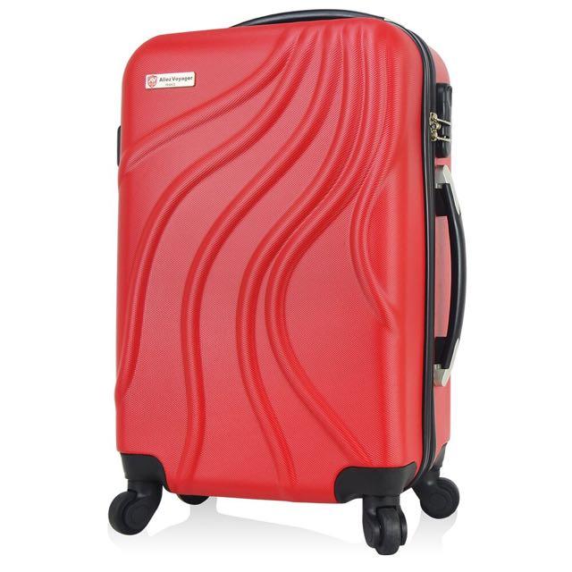 偶像劇同款 24吋嚴選ABS防刮材質硬殼行李箱 靜音萬向輪旅行箱  行雲流水系列 我的老師叫小賀裡曾出現喔!