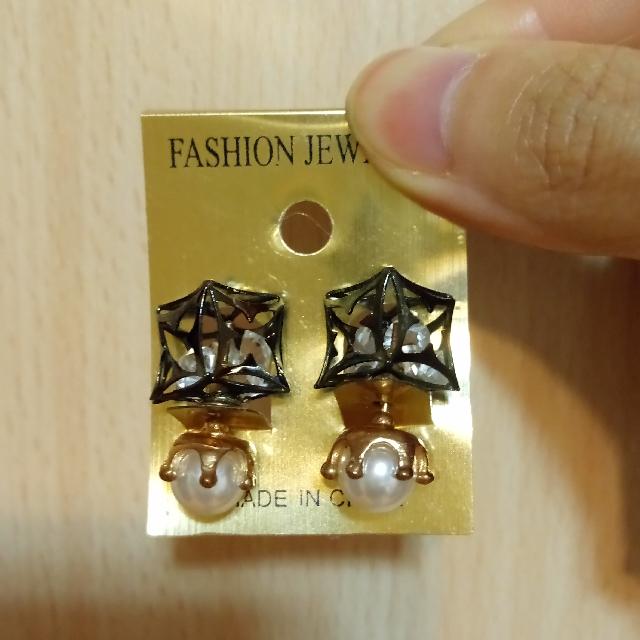 韓式 耳環 雙面戴 珍珠