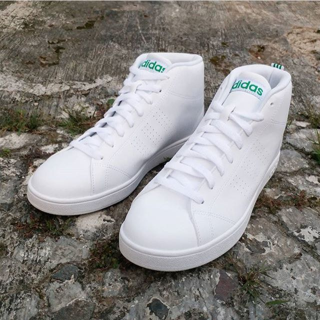 Adidas Neo Advantage Mid Original White Clean Green