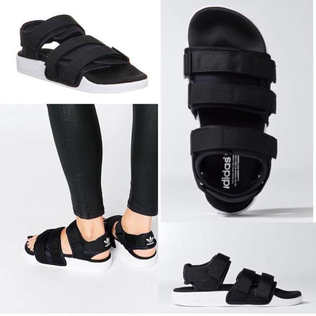 9eb421ab3e32 Adidas Originals Adilette Chunky Strap Sandal Flat Sandals BNIB ...
