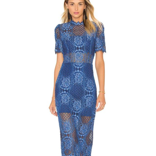 Alexis blue lace dress