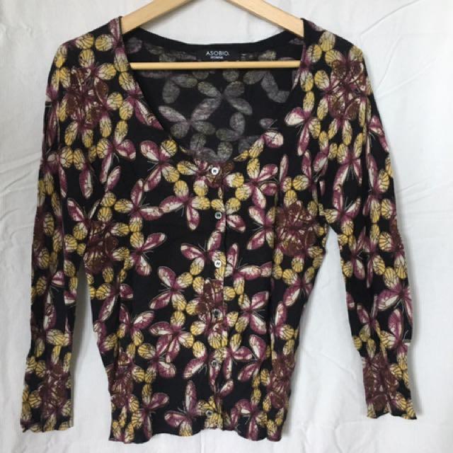 Asobio Floral print cardigan
