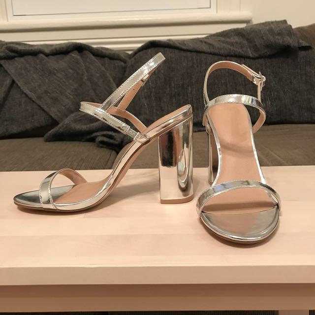 ASOS Metallic Heel - Size 9