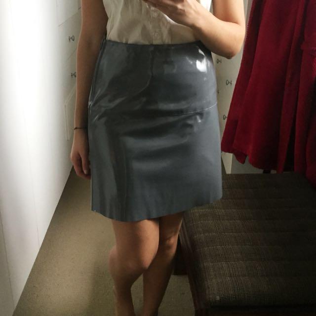 ASOS PU Grey Skirt
