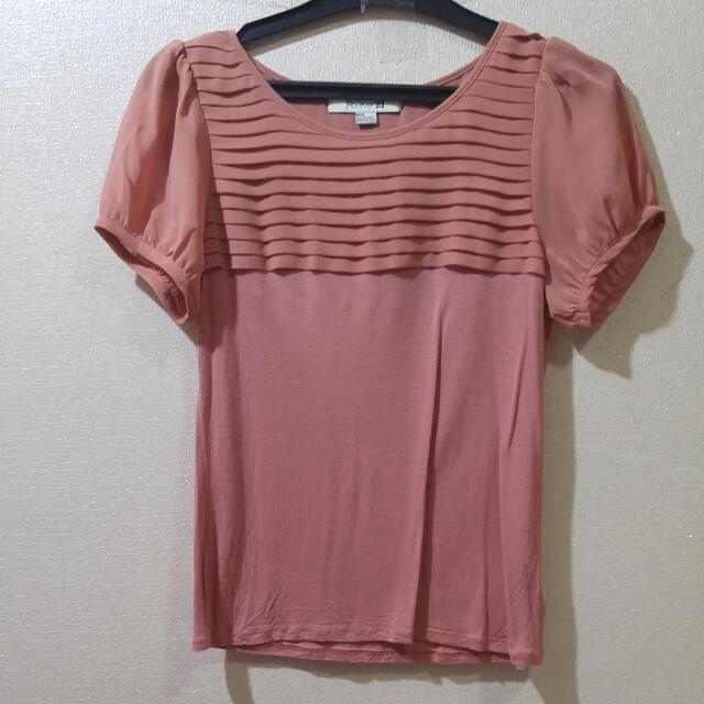 Authentic Forever21 Salmon Blouse