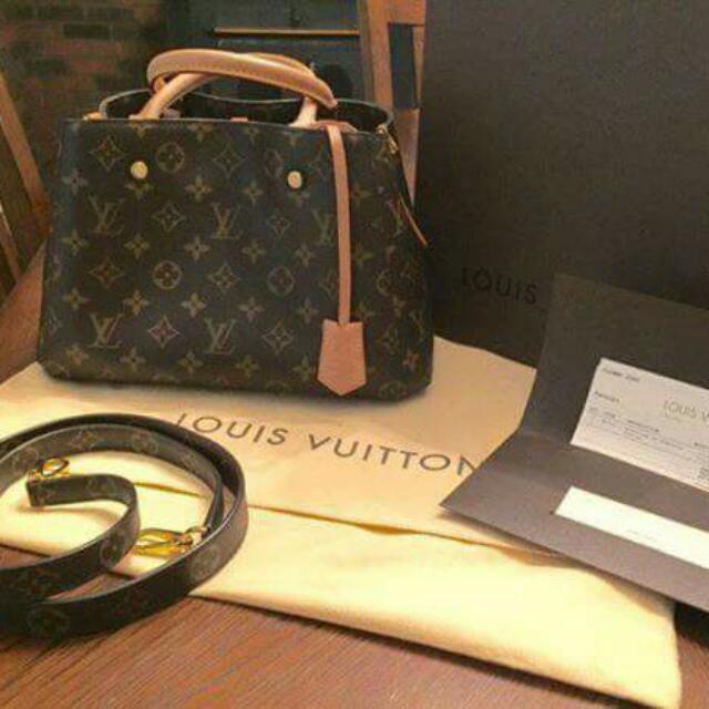 Authentic Louis Vuitton Montaigne BB Monogram