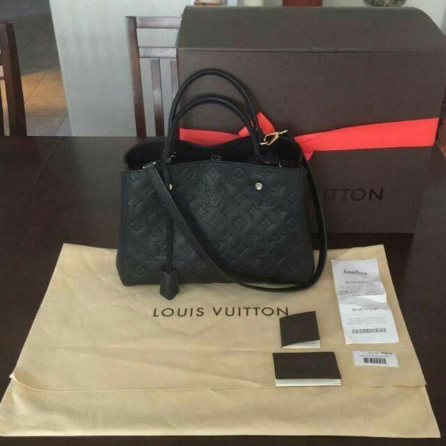 Authentic Louis Vuitton Montaigne Empriente