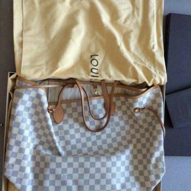 Authentic Louis Vuitton Neverfull Azur GM