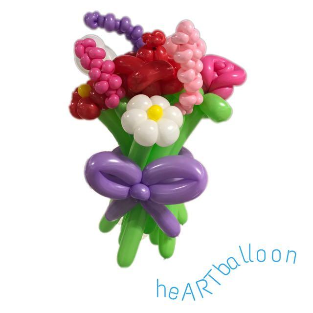 Balloon Flower Bouquet 💐, Design & Craft, Art & Prints on Carousell