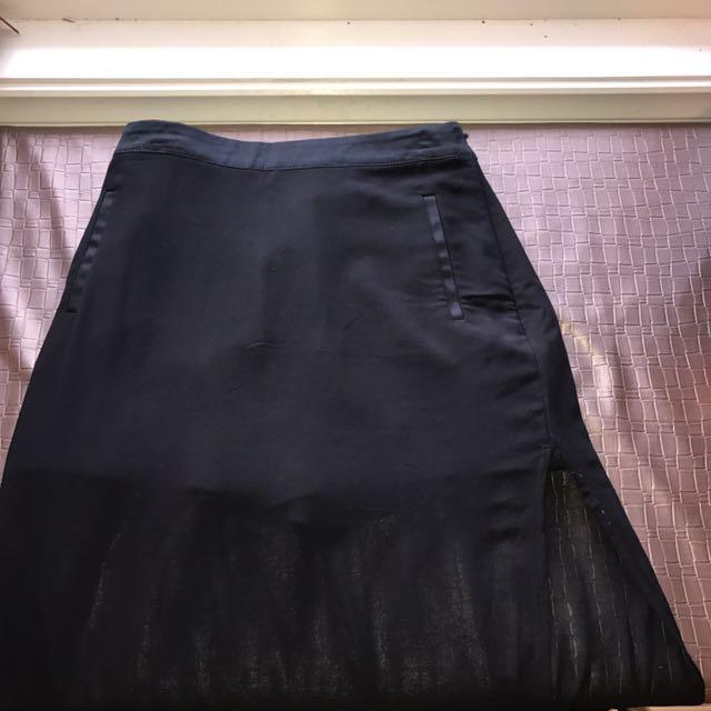 Bardot junior black mesh skirt/short skirt high waist long size 16 kids and 10 women's medium small