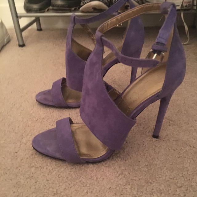 Bcbg bluey purple suede heel 7.5