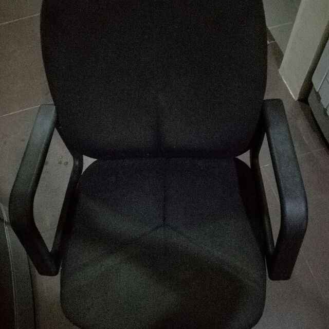 Black Chair (Good For Study Or Home Office)