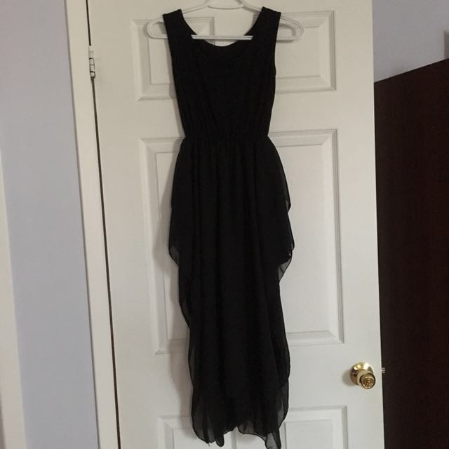Black dress with side slits