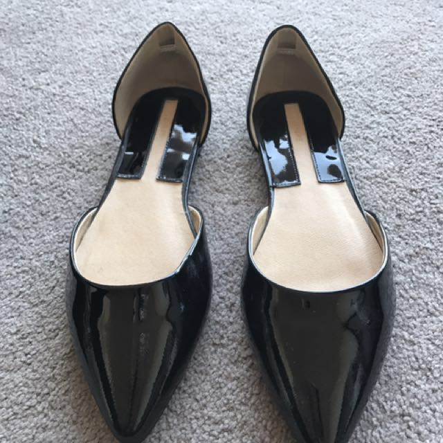 Black flats ballerina shoes