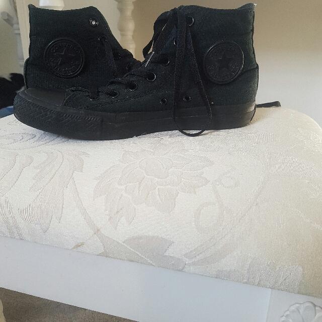 Black Hightop Converse
