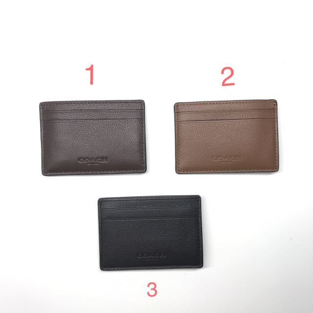 3164915cce564 BNWT Authentic coach money clip in sports Calf Leather