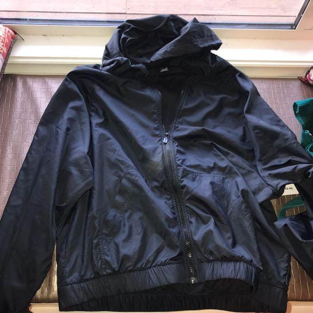 Bonds medium m bomber jacket black track running jumper cheap hooded lightweight