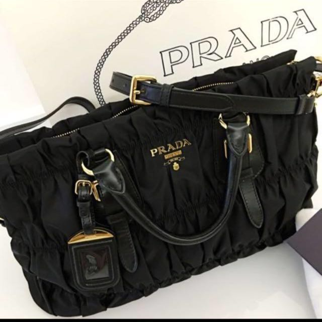 842bc843c384 ... where to buy brand new prada bn 1336 tessuto gaufre nero luxury bags  wallets on carousell ...