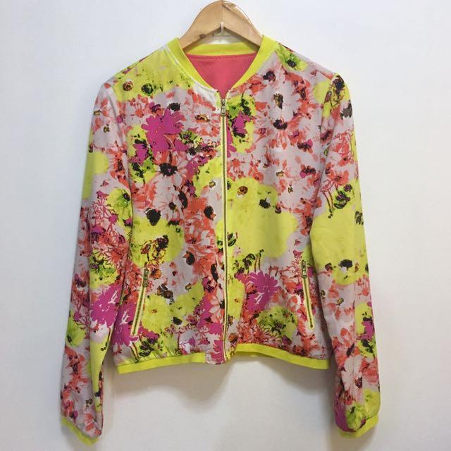 Bright baseball-styled jacket
