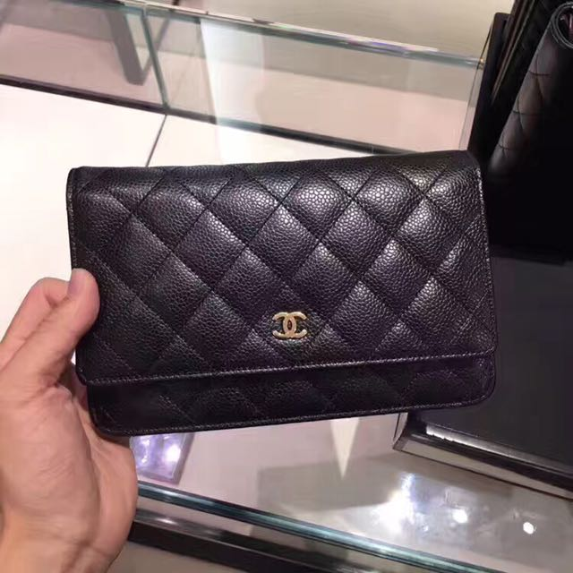 14521508eb2d Chanel classic flap wallet on chain (woc) caviar, Women's Fashion, Bags &  Wallets on Carousell