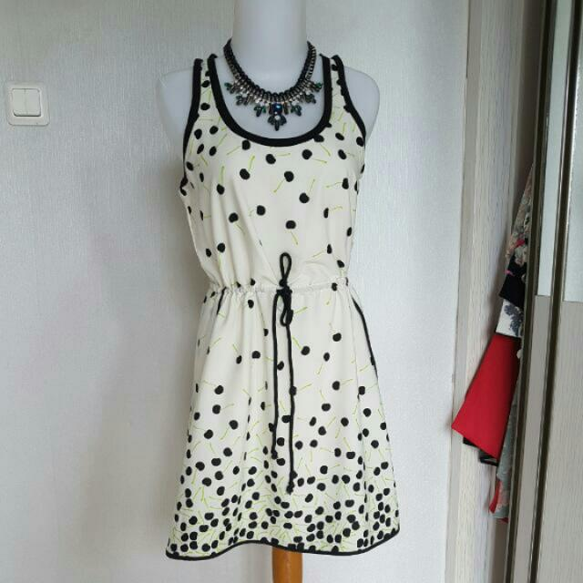 cherry pattern dress