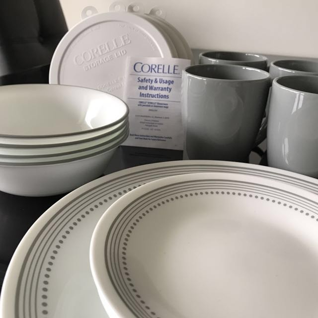 photo photo ... & Corelle Mystic Gray 20 Piece Dinnerware Set Home Appliances on ...