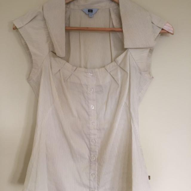 CUE Shirt Pale Yellow & Cream