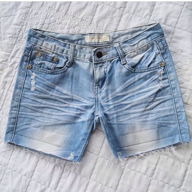 Denim Tattered Short