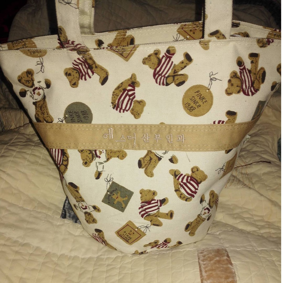 ELFMOM BUCKET CANVAS HANDBAG